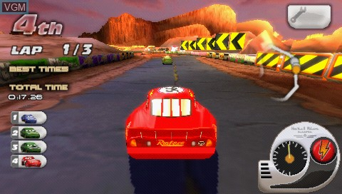Image in-game du jeu Double Pack - Cars + Cars - Race-O-Rama sur Sony PSP