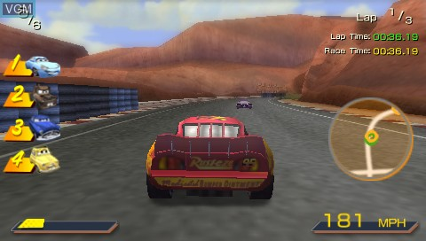 Image in-game du jeu Double Pack - Cars + Ratatouille sur Sony PSP