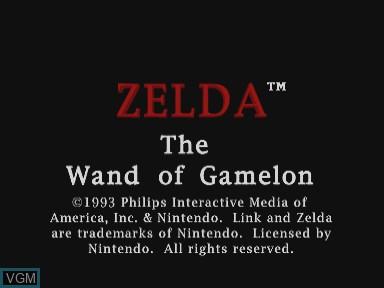 Image de l'ecran titre du jeu Zelda - The Wand of Gamelon sur Philips CDI