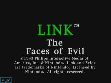 Image de l'ecran titre du jeu Link - Faces of Evil sur Philips CDI