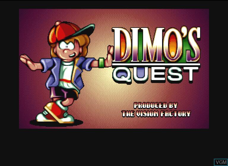 Image de l'ecran titre du jeu Dimo's Quest sur Philips CDI