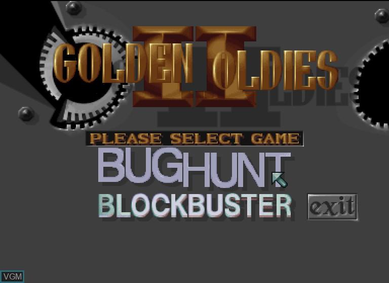 Image de l'ecran titre du jeu Golden Oldies II sur Philips CDI