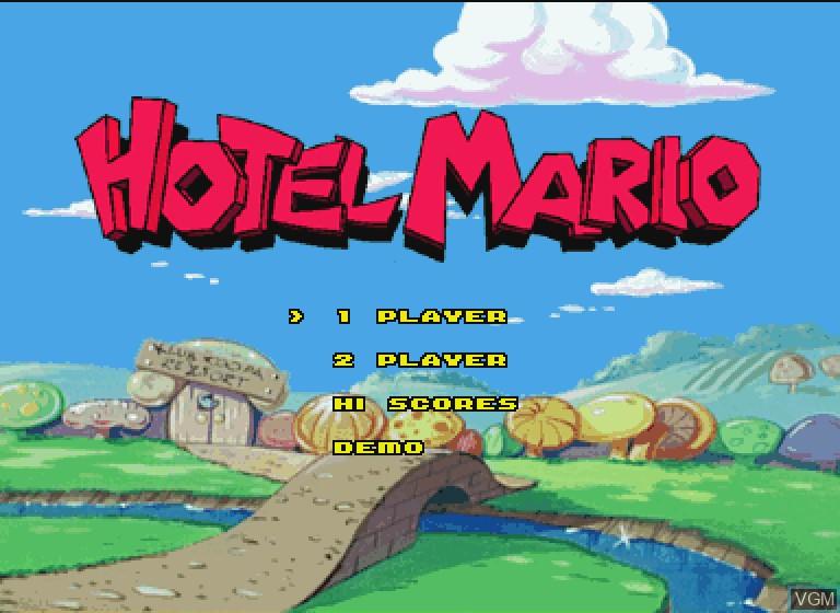 Image de l'ecran titre du jeu Hotel Mario sur Philips CDI
