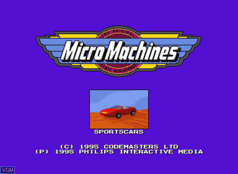 Image de l'ecran titre du jeu Micro Machines sur Philips CDI