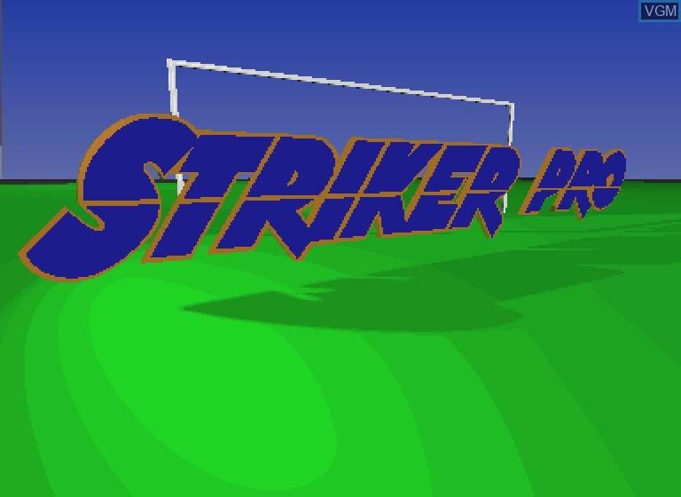 Image de l'ecran titre du jeu Striker Pro sur Philips CDI