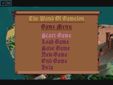 Image du menu du jeu Zelda - The Wand of Gamelon sur Philips CDI