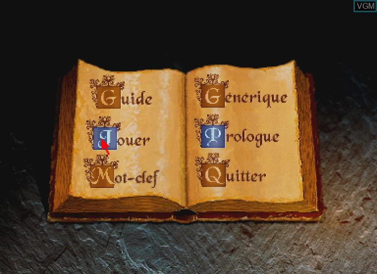 Image du menu du jeu L'Ange et le Demon sur Philips CDI