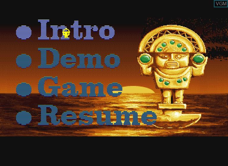 Image du menu du jeu Inca sur Philips CDI