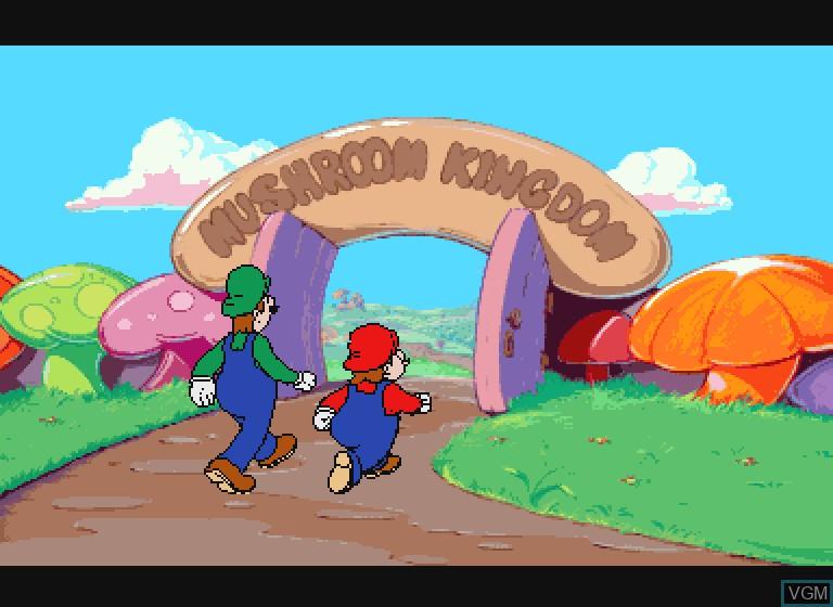 Image du menu du jeu Hotel Mario sur Philips CDI