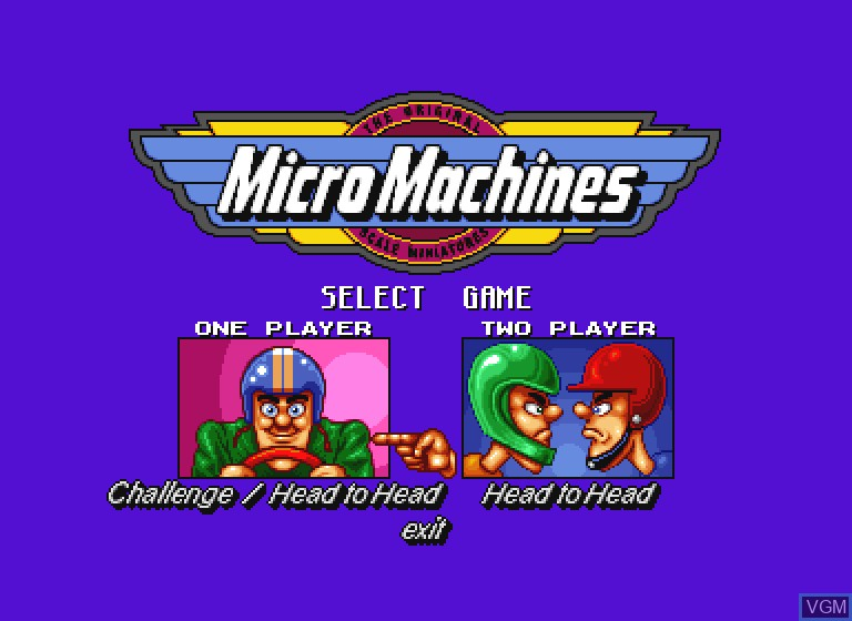 Image du menu du jeu Micro Machines sur Philips CDI