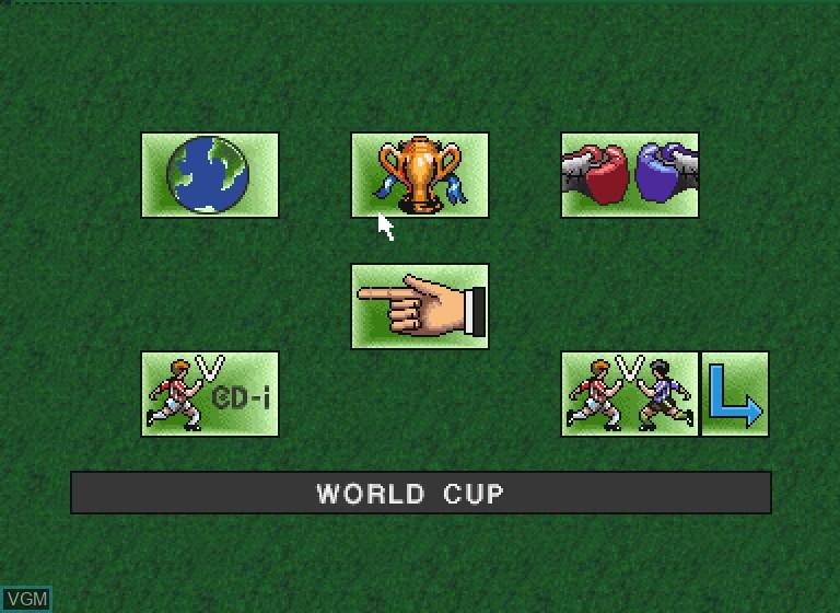 Image du menu du jeu Striker Pro sur Philips CDI