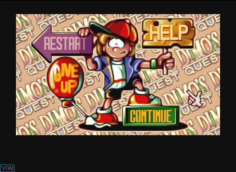 Image in-game du jeu Dimo's Quest sur Philips CDI