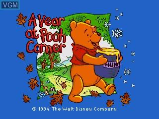 Image de l'ecran titre du jeu A Year at Pooh Corner sur Sega Pico