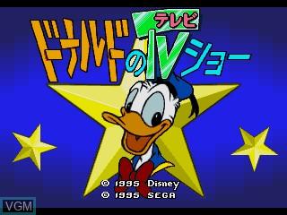Image de l'ecran titre du jeu Donald no TV Show sur Sega Pico