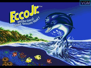 Image de l'ecran titre du jeu Ecco Jr. and the Great Ocean Treasure Hunt! sur Sega Pico