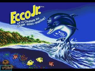 Image de l'ecran titre du jeu Ecco Jr. et la Chasse au Tresor Sous-Marine! sur Sega Pico
