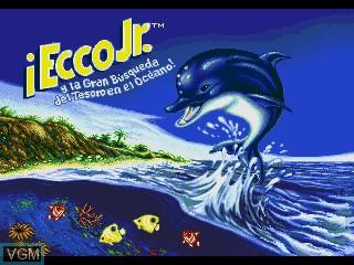 Image de l'ecran titre du jeu Ecco Jr. y la Gran Busqueda del Tesoro en el Oceano! sur Sega Pico