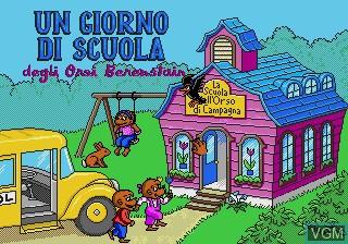 Image de l'ecran titre du jeu Giorno di Scuola degli Orsi Berenstain, Un sur Sega Pico