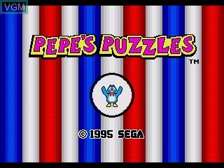 Image de l'ecran titre du jeu Pepe's Puzzles sur Sega Pico
