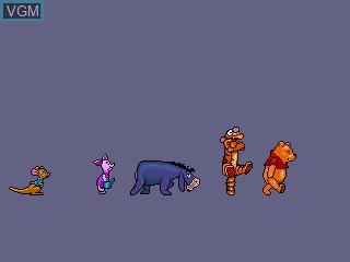 Image du menu du jeu A Year at Pooh Corner sur Sega Pico