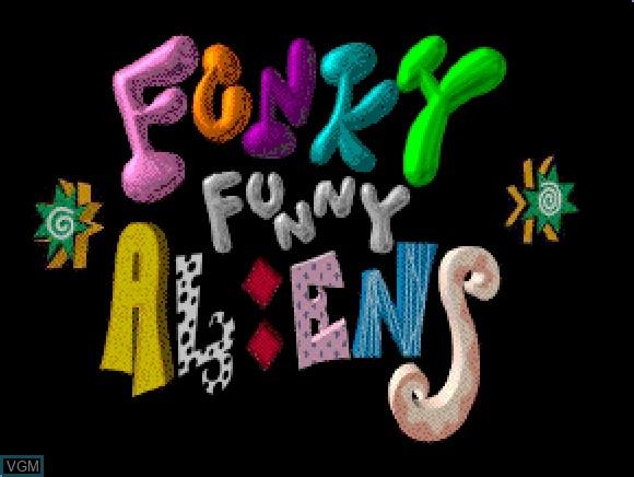 Image de l'ecran titre du jeu Funky Funny Aliens sur Apple Pippin