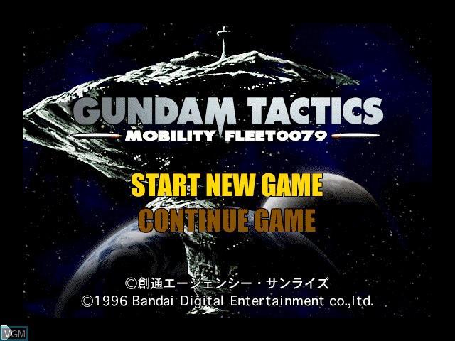 Image de l'ecran titre du jeu Gundam Tactics -Mobility Fleet0079- sur Apple Pippin