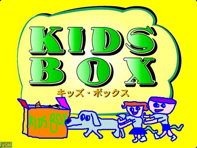 Image de l'ecran titre du jeu Kids Box sur Apple Pippin