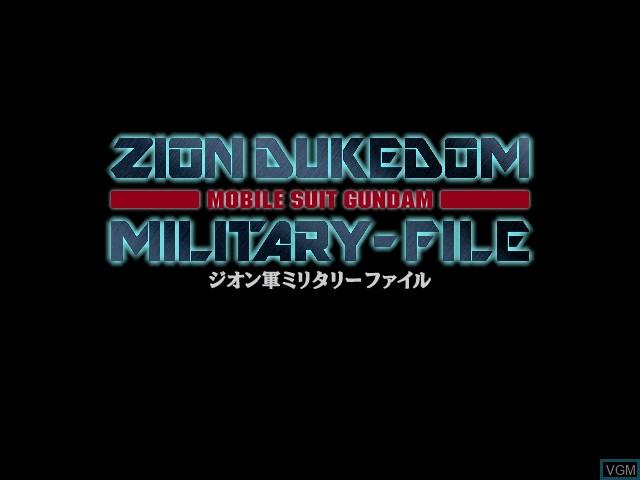 Image de l'ecran titre du jeu Mobile Suit Gundam Zion Dukedom Military-File sur Apple Pippin