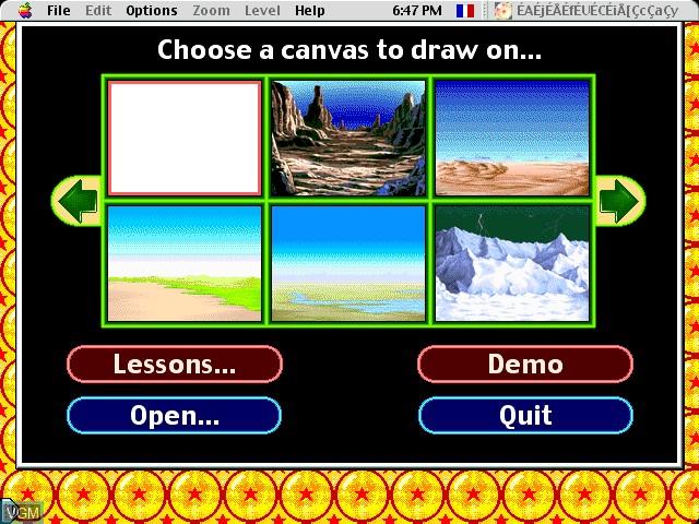 Image du menu du jeu AnimeDesigner - DragonBall Z sur Apple Pippin