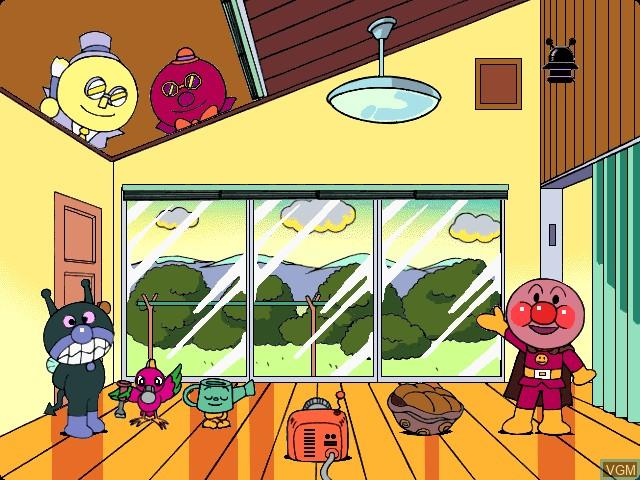 Image du menu du jeu Anpanman no AIUEO-N ! sur Apple Pippin