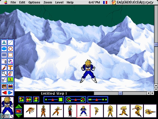 Image in-game du jeu AnimeDesigner - DragonBall Z sur Apple Pippin