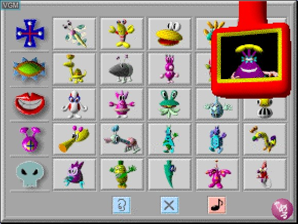 Image in-game du jeu Funky Funny Aliens sur Apple Pippin