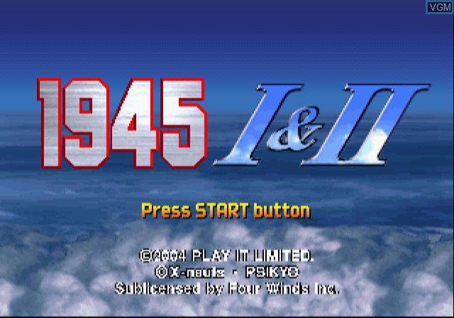 Image de l'ecran titre du jeu 1945 I&II The Arcade Games sur Sony Playstation 2