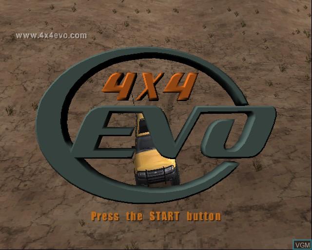 Image de l'ecran titre du jeu 4X4 Evolution sur Sony Playstation 2