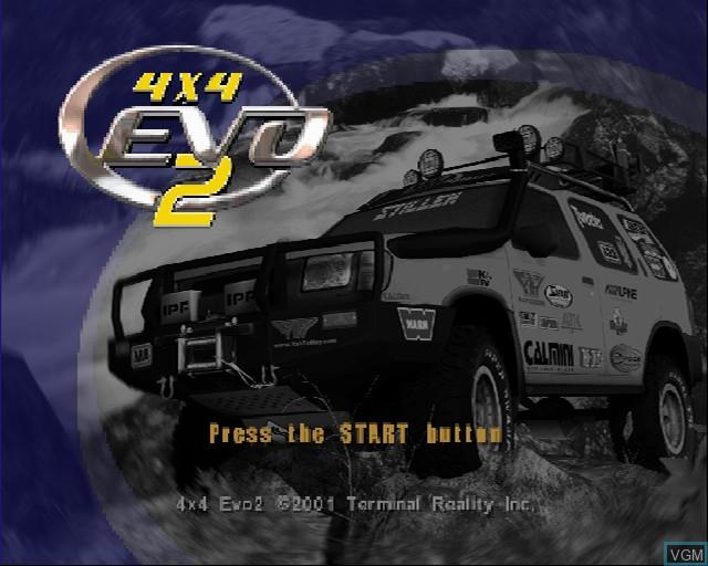 Image de l'ecran titre du jeu 4X4 EVO 2 sur Sony Playstation 2