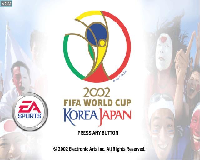 Image de l'ecran titre du jeu 2002 FIFA World Cup sur Sony Playstation 2