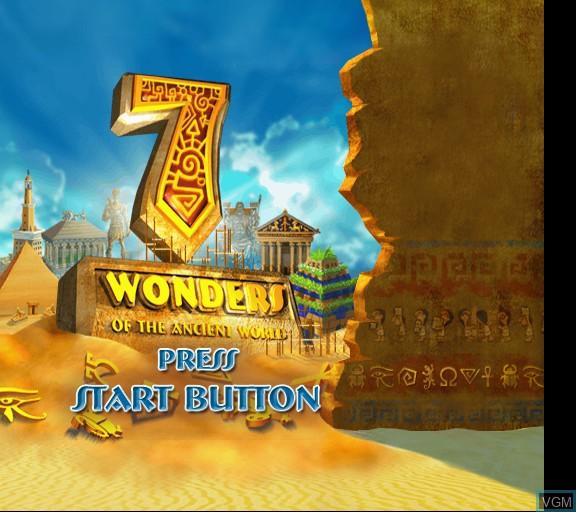 Image de l'ecran titre du jeu 7 Wonders of the Ancient World sur Sony Playstation 2