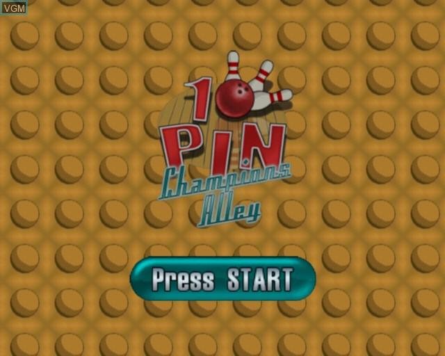Image de l'ecran titre du jeu 10 Pin - Champions Alley sur Sony Playstation 2