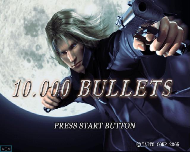 Image de l'ecran titre du jeu 10,000 Bullets sur Sony Playstation 2