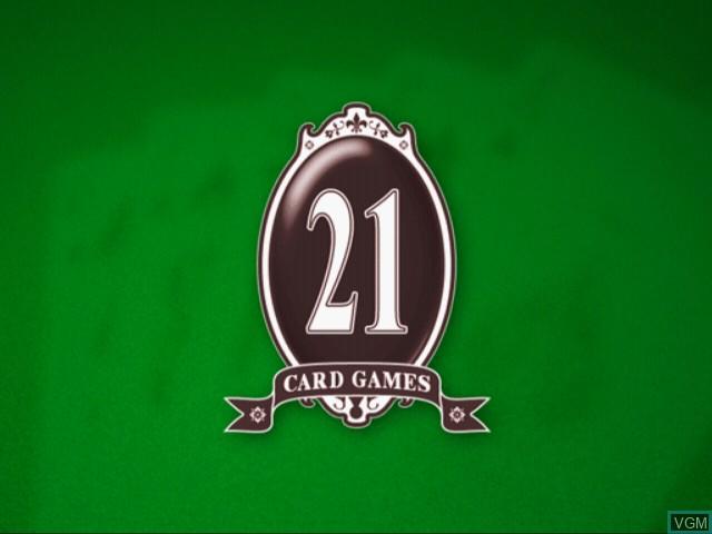 Image de l'ecran titre du jeu 21 Card Games sur Sony Playstation 2