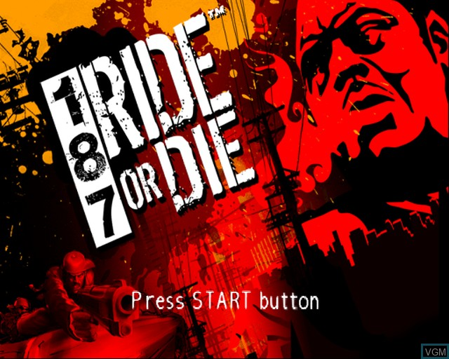 Image de l'ecran titre du jeu 187 Ride or Die sur Sony Playstation 2