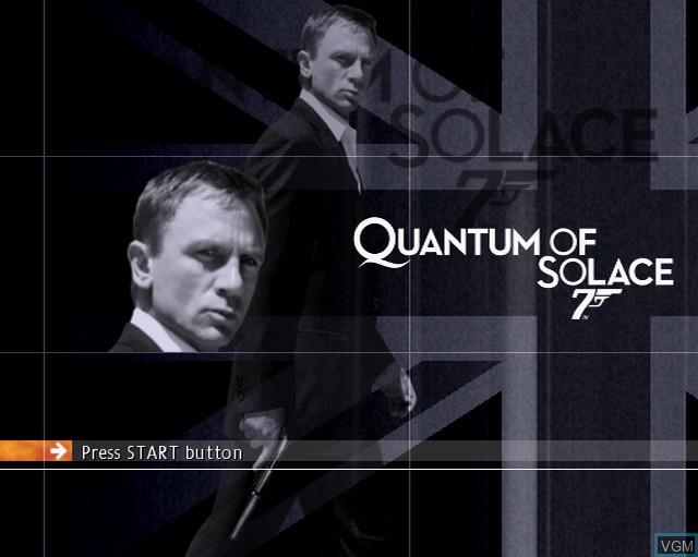 Image de l'ecran titre du jeu 007 - Quantum of Solace sur Sony Playstation 2