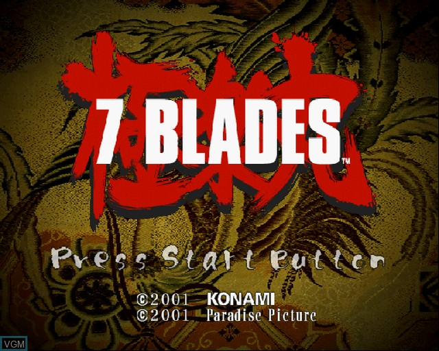 Image de l'ecran titre du jeu 7 Blades sur Sony Playstation 2