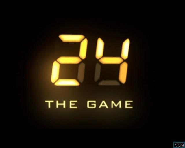 Image de l'ecran titre du jeu 24 - The Game sur Sony Playstation 2
