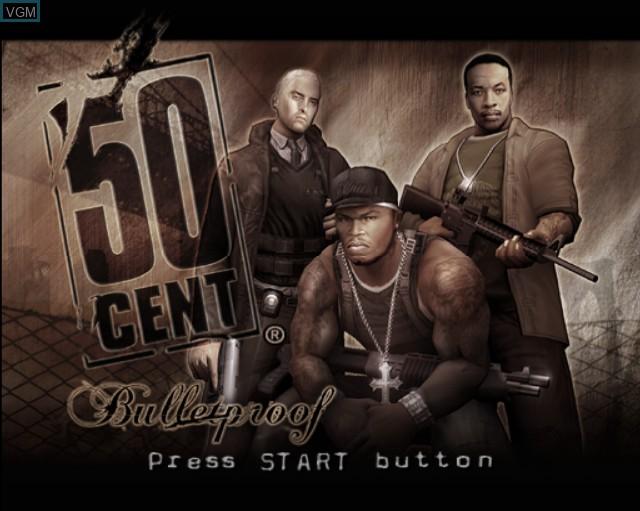Image de l'ecran titre du jeu 50 Cent - Bulletproof sur Sony Playstation 2