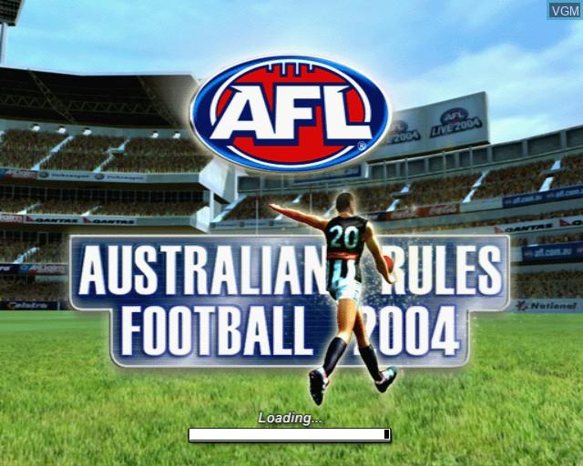 Image de l'ecran titre du jeu AFL Live 2004 sur Sony Playstation 2