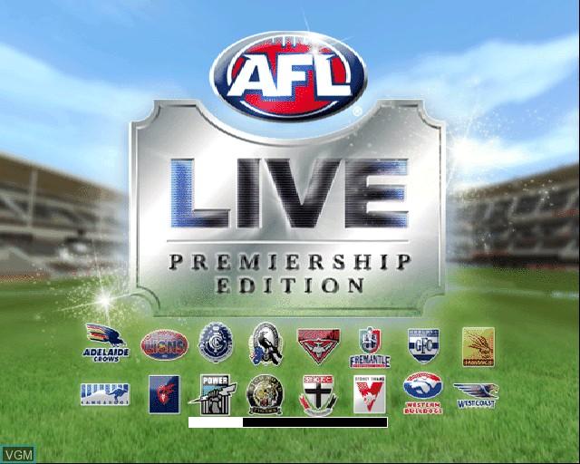 Image de l'ecran titre du jeu AFL Live Premiership Edition sur Sony Playstation 2