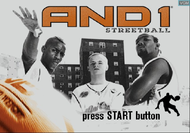 Image de l'ecran titre du jeu And 1 Streetball sur Sony Playstation 2