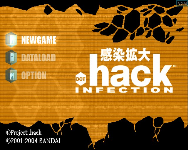 Image de l'ecran titre du jeu .hack//Infection Part 1 sur Sony Playstation 2