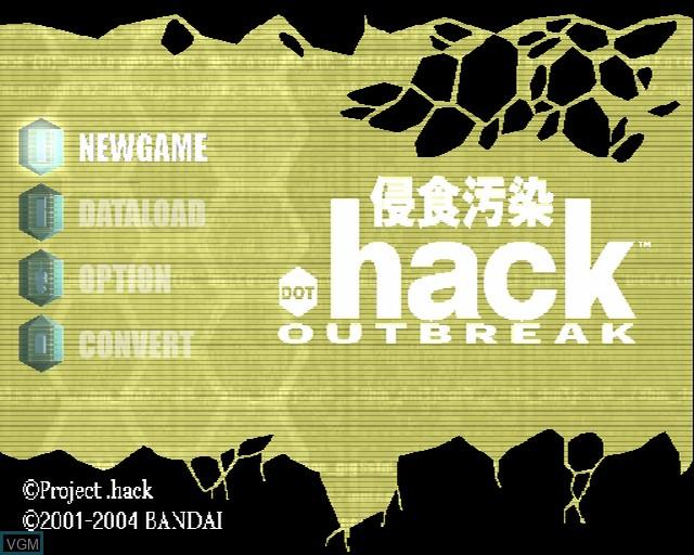 Image de l'ecran titre du jeu .hack//Outbreak Part 3 sur Sony Playstation 2